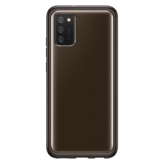 Θήκη Σιλικόνης Samsung Soft Clear Cover durable cover with gel frame and reinforced back Samsung Galaxy A02s EU black (EF-QA026TBEGEU), Black