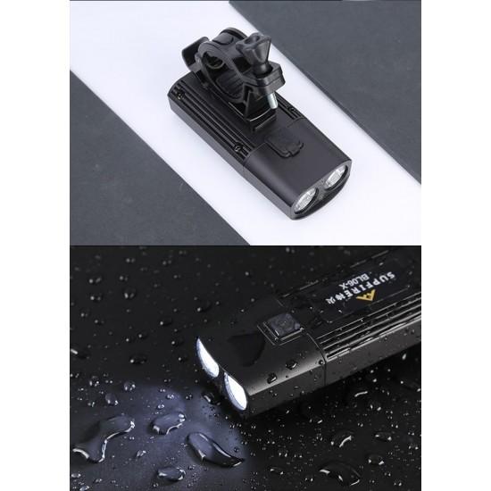 Επαναφορτιζόμενος Φακός Ποδηλάτου Supfire BL06-X USB 275lm 207m