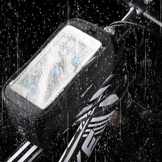 Βάση - Θήκη Στήριξης Ποδηλάτου Wozinsky Bike Front Storage Bag Bicycle Frame Phone Case 6,5 inch max 1L black (WBB6BK)