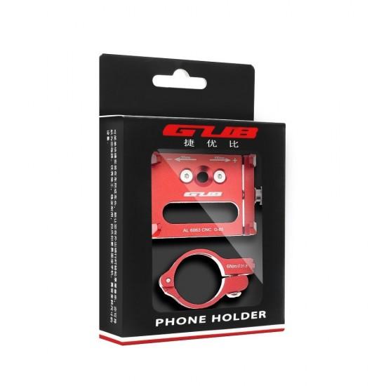 Βάση Στήριξης Μηχανής Κινητού Τηλεφώνου (Aluminium bike holder) G85 Red