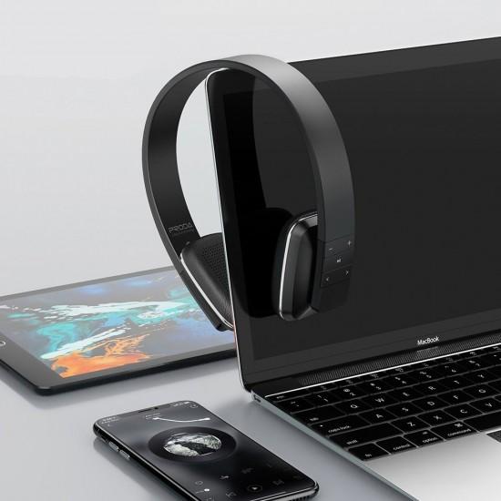 Proda on-ear wireless Bluetooth 5.0 headphones black (PD-BH300 black)